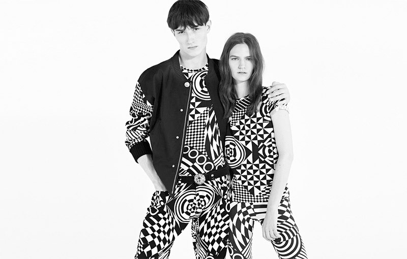 Jester White and Zlata Mangafic for Versus Versace