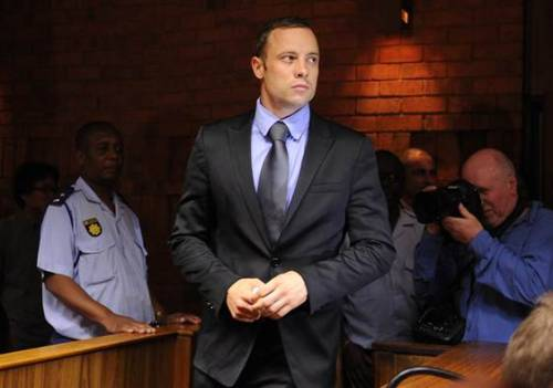 nbcnews:  Pistorius bail hearing in chaos as lead detective is axed from case (Photo: Alexander Joe / AFP - Getty Images) Oscar Pistorius' bail hearing descended into chaos Thursday as the lead detective investigating the killing of the Olympian's girlfriend was removed from the case amid attempted murder charges of his own. Read the complete story.  Yeah, that seemed like a foregone conclusion. Jesus.
