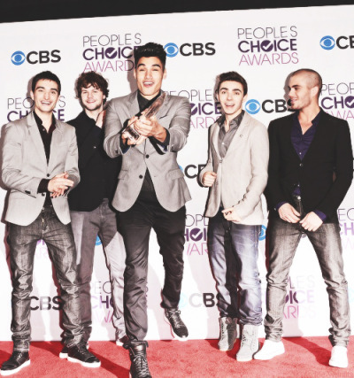"The Wanted win ""Breakout Artist of the Year""at the People's Choice Awards on Wednesday…"