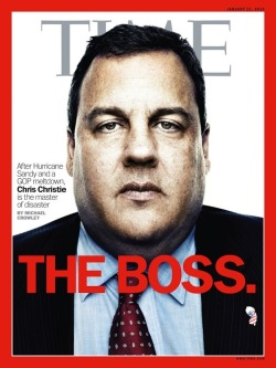 Chris Christie Time Cover Boss