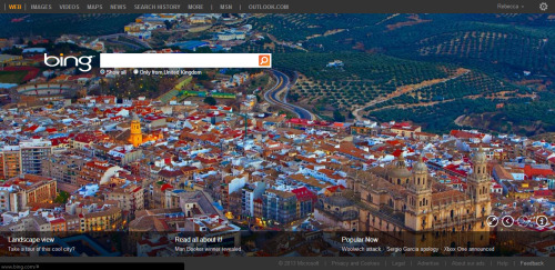 Mi querido Jaén on the bing homepage today :)