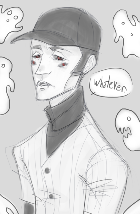 locohen:  generic Batter bust #5645  doodle while waiting for food to heat up