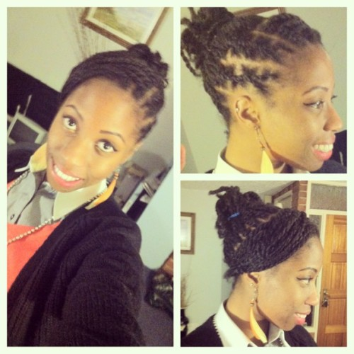 LoRo's Hairstyles Feb 2013  On my #DREADLOCKFLOW. (I wish…more like #TwoStrandTwistFlow) #NewhairStyle #TeamNatural #Hair #BlackHair #AfroCaribbeanHair #HairStyle #NaturalHair #picstitch #LoRosHair #LoRosHairstyles #Twists #Dreadlocks #Locks