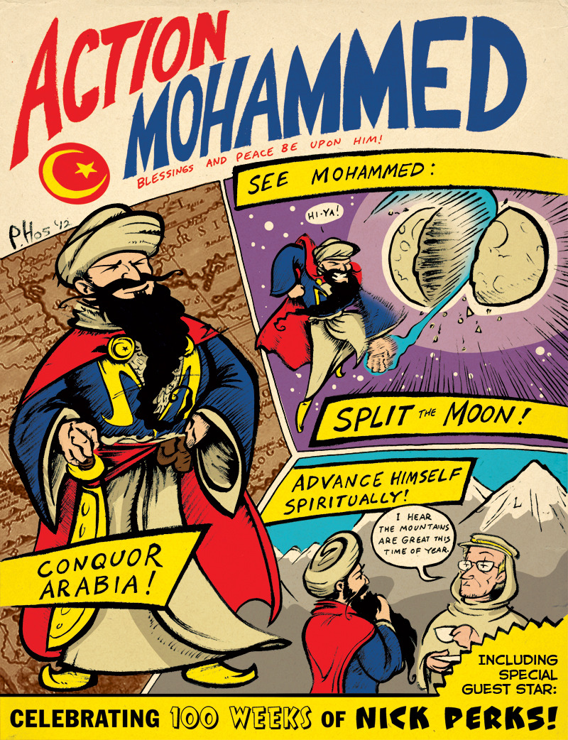 bluedogeyes:  Action Mohammed by Paul Hostetler Artist blog