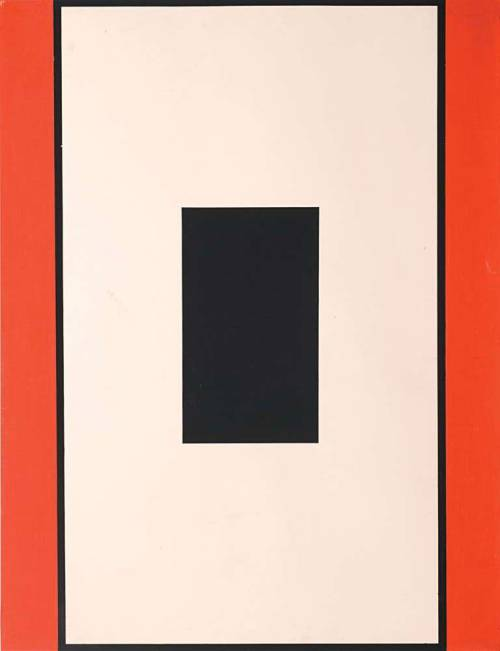 dubravko budić - crni pravokutnik u vertikali (black vertical rectangle, 1974)