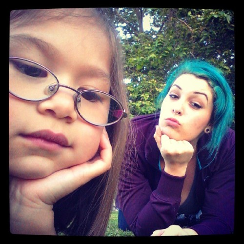 Princess and the duck face.