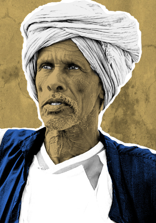 aballahabbas:  pop art portrait of a sudanese man .. from my artworks