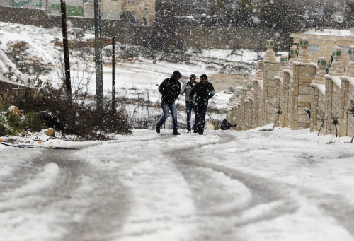 Worst storm in 20 years hits eastern Mediterranean. Several dead. Storm intensifies health issues for war torn Syria and refugees. What's worse, is the snow will melt quickly, causing flash floods, which will ruin roads and weakened infrastructure. Click through for slide show and full story. reuters:  The worst winter storm in two decades has hit the eastern Mediterranean this week, bringing destruction and death to Syria and its neighbors who are already dealing with a refugee crisis from the country's civil war. Opposition activists in Syria, where war has forced hundreds of thousands of people from their homes and cut off access to food, fuel and power for cities and towns, say dozens of people have died there in four days of relentless extreme weather.READ ON: Winter storm brings devastation to Syria and neighbors