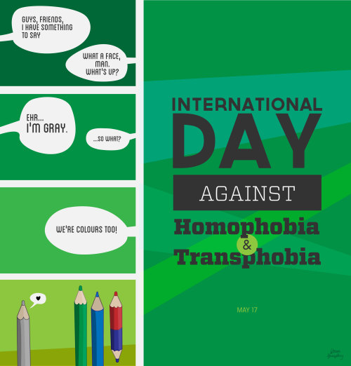 davehumphrey:  may 17 - international day against homophobia and transphobia