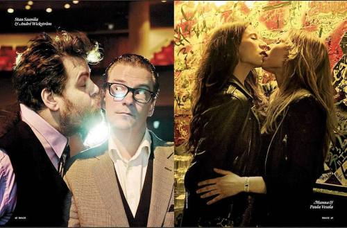 Finnish celebrities kiss to promote marriage equality. Ilta-Sanomat reports, project by Image Magazine