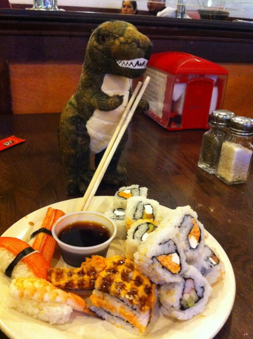 Mr. Dino says bring on the sushi!