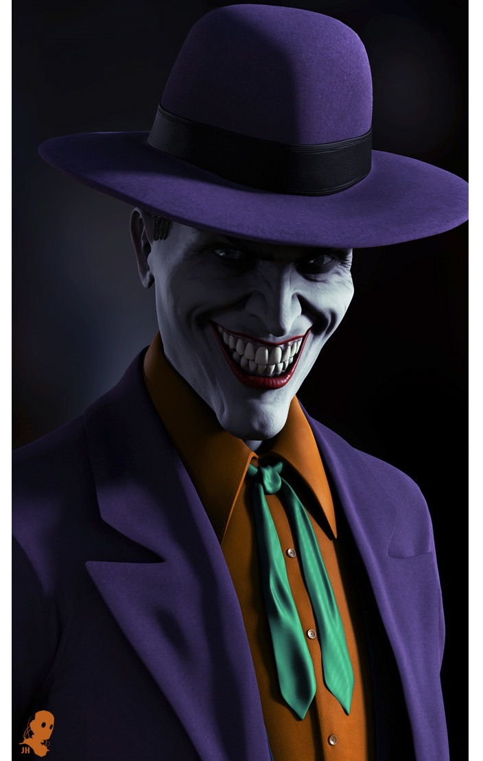 timetravelandrocketpoweredapes:  The Joker by Josh Herman Artist website / blog / facebook