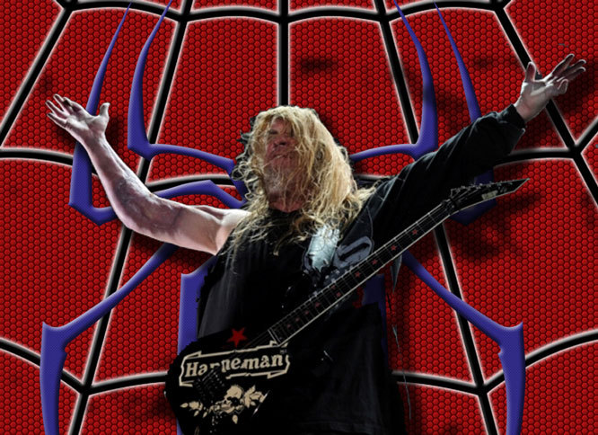 Jeff Hanneman, Slayer Guitarist, Dies at 49  LOS ANGELES (AP) — Jeff Hanneman, a founding member of Slayer whose career was irrevocably changed after a spider bite, has died. He was 49. Slayer spokeswoman Heidi Robinson-Fitzgerald said Hanneman died Thursday morning of liver failure at a Los Angeles hospital with his wife, Kathy, by his side. The guitarist had recently begun writing songs with the band in anticipation of recording a new album later this year. He had been slowly recovering from what was believed to be a spider bite that nearly cost him his arm after he failed to seek immediate treatment. (nytimes)  Hanne-man, Hanneman, does whatever a hanne can! RIP dude.