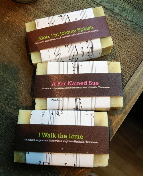 Soaps spotted by madebyemily at the Johnny Cash Museum in Nashville, TN. Something I like about Johnny Cash was that all his songs were really clean.