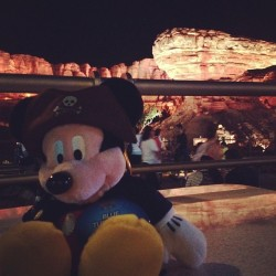 CarsLand at night- so awesome, especially when you eat at Flo's V8 cafe.