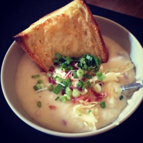 Loaded Baked Potato Soup  There is *nothing* healthy about this, and I'm okay with that!
