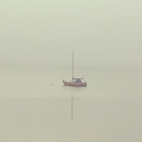 #Morning mist. #boat #rhodeisland #home (at Rosedale Landing Dock)