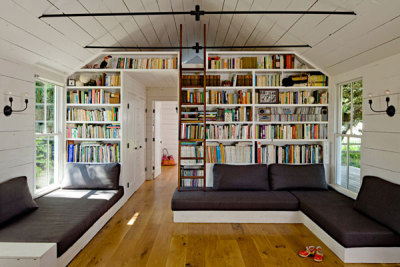 Nice reading room/home library