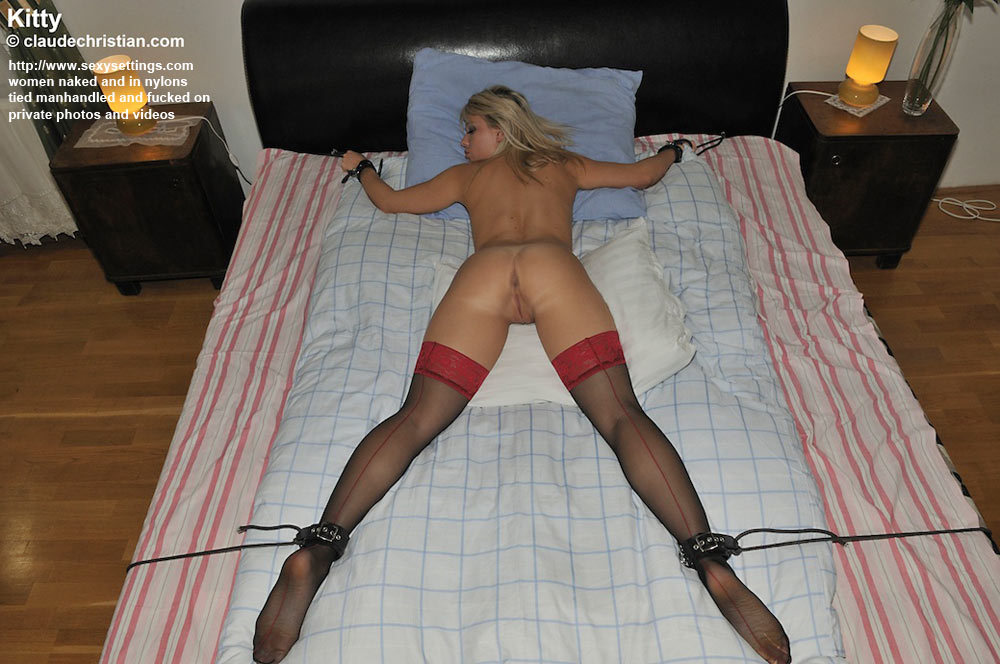 Naked girls tied up