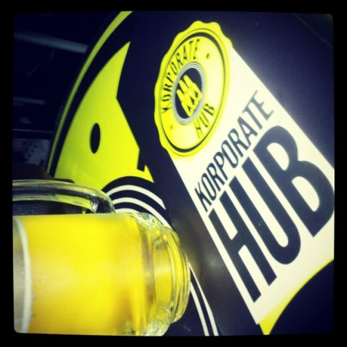 #beer at #hub (at Korporate Hub)