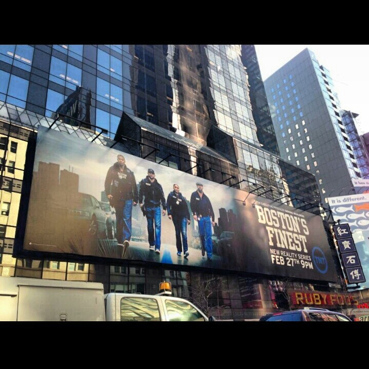 Boston's Finest in Times Square, New York.  TNTs new show Boston's Finest premieres Feb 27th @ 9p