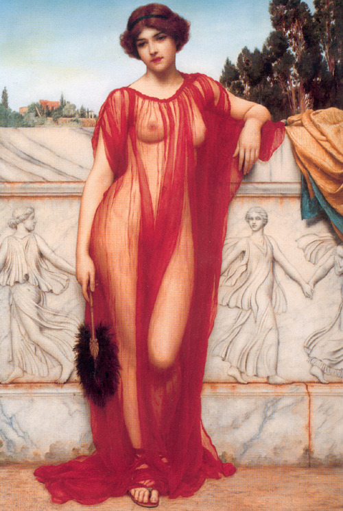 """Athénaïs"" (1908) by John William Godward"