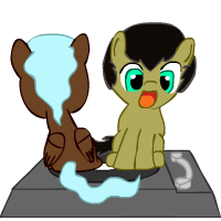 Special Spinnin' Someponies - SWF version by ~RoughSketch897 Since Hearts and Hooves Day is coming up, I thought I'd share this cute lil' thing. Click it to see them spin! Sketchy made it for me last year for Hearts and Hooves Day. <3 -Astral Scribe ((Sorry about the lack of updates lately. Sketchy has requested a little time off from pony-drawing so he can work on his art school portfolio. I'm so proud of him! But he will still be updating sometimes, so keep asking questions! If you need your Sketchy fix (like I do), you could check out his modblog. I sometimes torment him there, too.)) -AstralMod