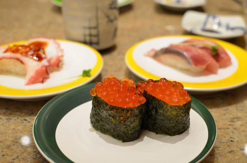 Sushi on Flickr. Via Flickr: Octopus, salmon eggs, yellow tail 12/19/13