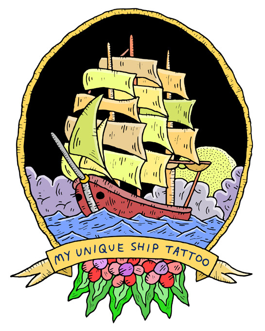samtaylorillustrator:  My Unique Ship Tattoo - VICE Twitter / Instagram / Website