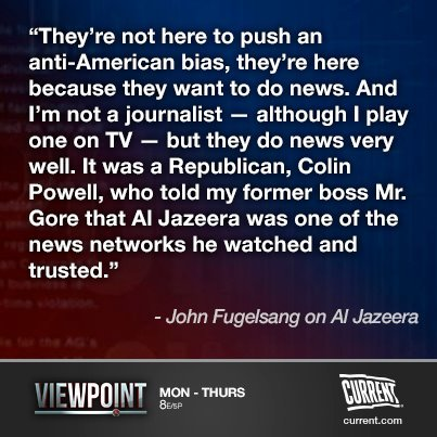 John Fugelsang tears down Fox News' ongoing argument about Al Jazeera having ulterior motives for buying Current TV.