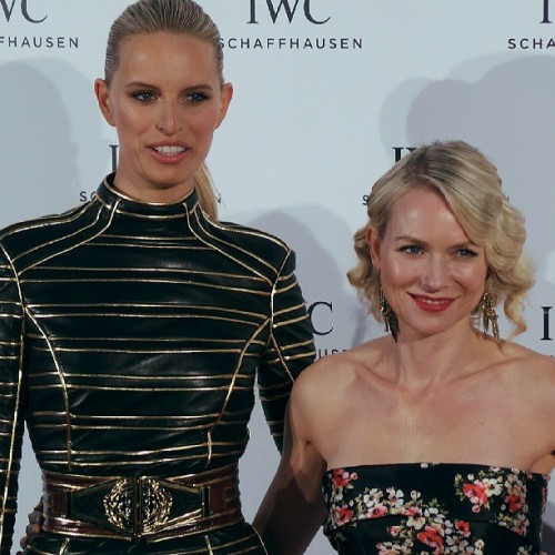 Karolina kurkova with naomi watts red carpet photocall party #iwccannes2013 #cannes2013  @iwc