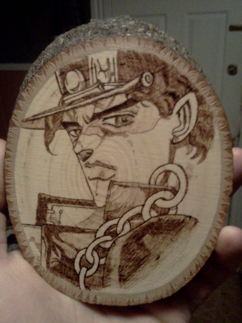 Jotaro Joestar from JoJo's Bizarre Adventure! The best show I have ever watched!!! Made this for my friend who I watch JoJo with every week duuuuuuuuuh.