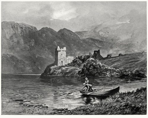 Loch Ness.  Lancelot Speed, from Footsteps of Dr. Johnson, George Birkbeck Norman Hill, London, 1890.  (Source: archive.org)