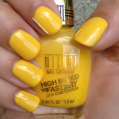 Milani - Yellow Whiz #nailpolish #yellow #nailcall #milani #yellowwhiz #polish #mani #nails