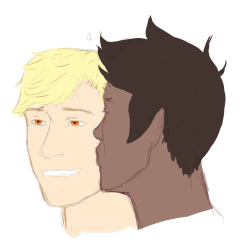 have some lazy dirk and jake .. my headcanon is that nearly every time jake kisses him, dirk kinda looks like that, idk :D and happy bithday john, jade & bec