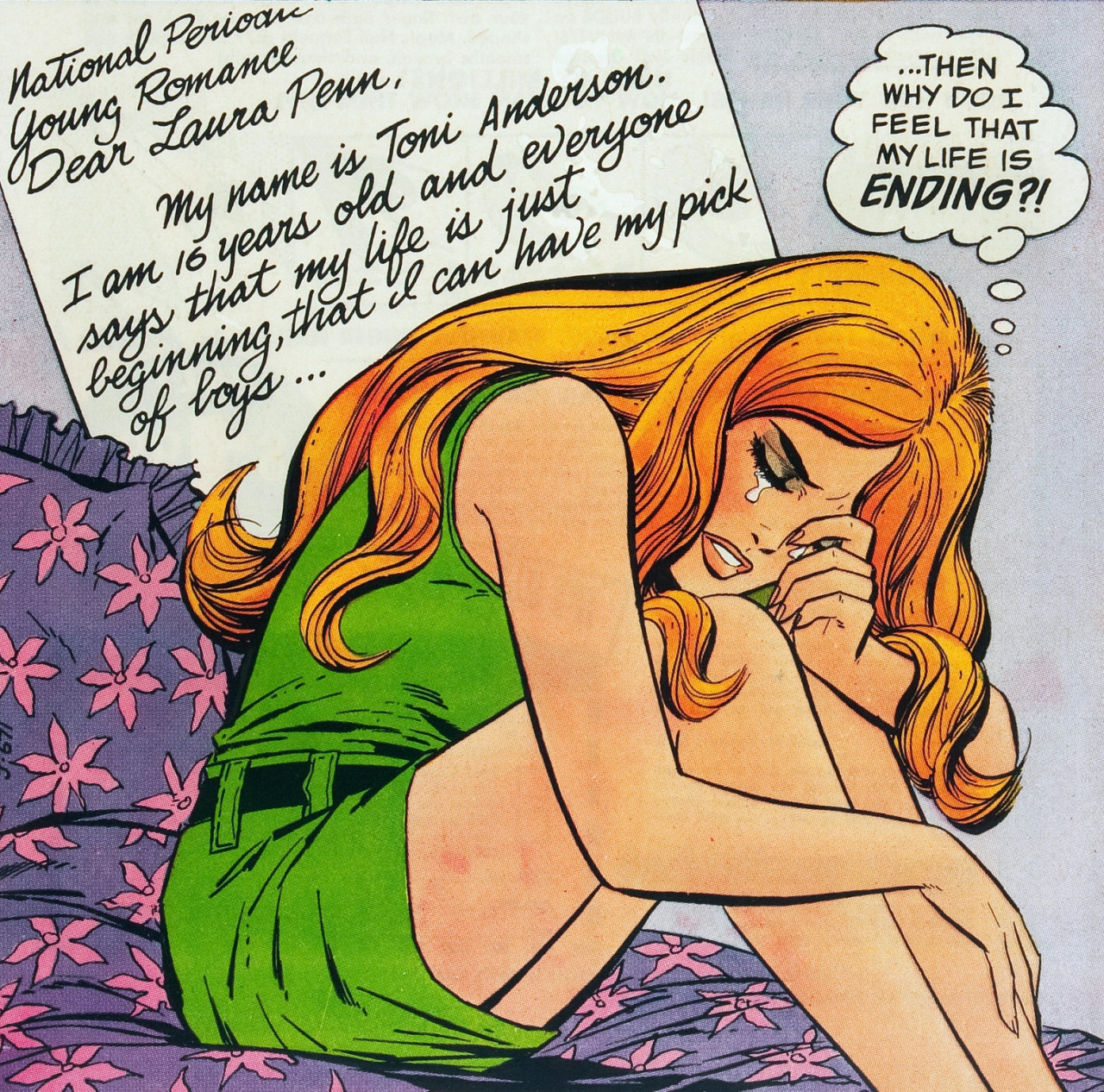 vintagegal:  Young Romance #165  (1970)