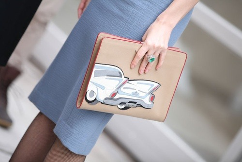 honeysucculents:  Prada clutch during New York Fashion Week, Fall 2013