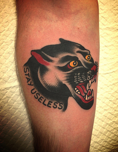 panther on forearm