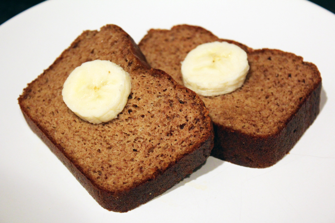 fitpaleobitch:  happychomp:  Paleo Banana Bread After starting the paleo diet, I started craving the exact foods I wasn't allowed to eat. This is my first attempt EVER at making bread, and it turned out awesome!! I was extremely worried that my lack of experience would result in a brick of hard banana bread. But it wasn't anything like that at all! In fact, it was perfectly moist and delicious to pair with some raw honey or almond butter. My kitchen was filled with the aroma of bananas as well. Ingredients: 2 1/2 cups of mashed bananas 4 eggs 1/2 cup almond butter 4 tbsp coconut oil (can use grass-fed butter as well) 1/2 cup coconut flour (can use almond flour as well) 1 tbsp cinnamon 1 tsp baking soda 1 tsp baking powder 1 tsp vanilla pinch of salt Instructions: Preheat oven to 350 degrees Mix the bananas, eggs, almond butter, and oil into a bowl and mix well. I was lazy and used a food processer :3 Once you have combined all the ingredients, add in the coconut flour, cinnamon, baking soda, baking powder, vanilla, and see salt. Mix well Pour the mixture into a 9x5 loaf pan and spread it evenly through. If you need to grease the pan, please do so before pouring in the mixture Place in oven and bake for 35 minutes and start checking by inserting a toothpick into the center. If it comes out clean, it is ready. The total baking time should run from 40 - 60 minutes (if you want to make muffins, mini - 25 minutes and normal - 30 minutes) Remove from oven, and flip the bread out onto a cooling rack Slice and enjoy! Inspiration: civilizedcavemancooking  genius
