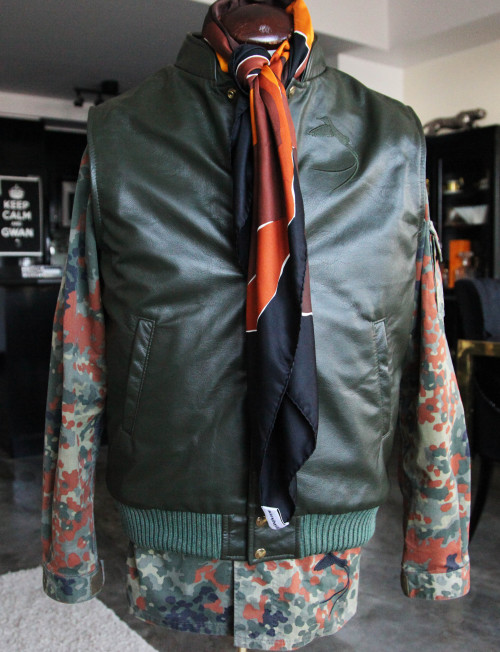 Military Green Yaudie Leather Vest