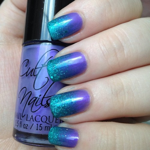 #cultnails Charming + #opi Austin-tatious Turquoise + #happyhands For British Eyes Only