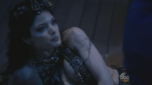 Natasha Wilson as a captured mermaid