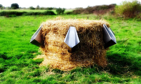 guardian:   L'Uritonnoir: the straw bale urinal that makes compost from 'liquid gold' French design studio Faltazi has developed a plug-in funnel to upcycle urine and bring an eco message to summer festivals Photographs: Faltazi
