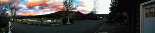 High St. Sunset. Truckee, CA