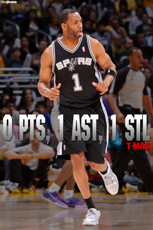 thescore:  STAT LINE OF THE NIGHT belongs to Tracy McGrady.