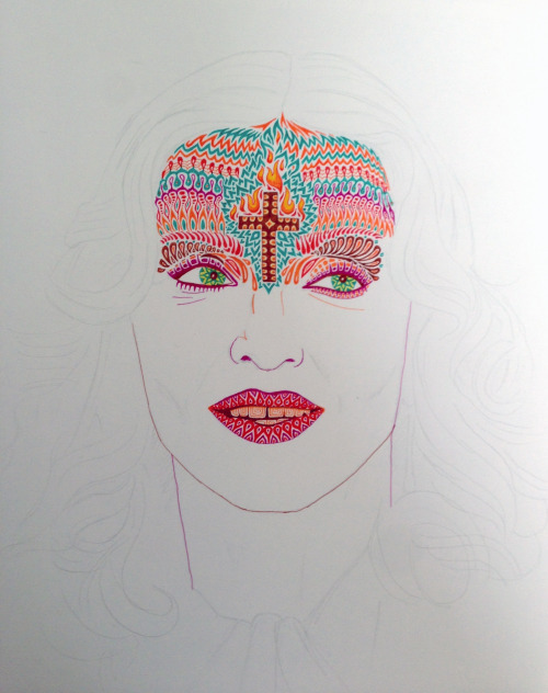 Madonna portrait - work in progress