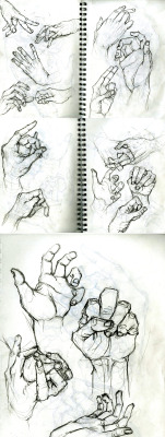 eatsleepdraw:  Sketchin' some hands!More awaits within.