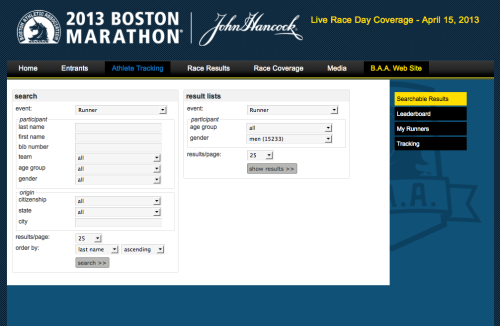 Wondering about your friends and family at the Boston Marathon? Track them here