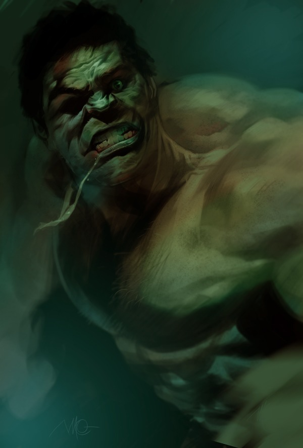 elmcitygeek:  The Hulk by Massimo Carnevale Check out his work @ http://sketchesnatched.blogspot.com
