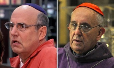 thedailywhat:  Doppelganger of the Day: Pope Francis I & George Bluth Sr. Okay, maybe it's the camera angle, but there is some resemblance between Arrested Development's George Bluth Sr. (Jeffrey Tambor) and the new Pope Francis I, no?